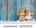 gingerbread cookies ... | Shutterstock . vector #625939115