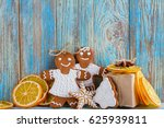 still life of gingerbread ... | Shutterstock . vector #625939811