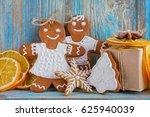 still life of gingerbread ... | Shutterstock . vector #625940039