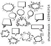 comic speech bubbles | Shutterstock .eps vector #625941914