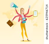 young woman with many legs and... | Shutterstock .eps vector #625946714