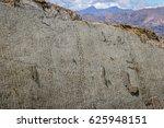 Small photo of Dinosaur tracks on Cal Orcko Wall - Sucre, Bolivia