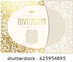 retro invitation or wedding... | Shutterstock .eps vector #625954895