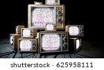 heaps of retro  antique tv in... | Shutterstock . vector #625958111