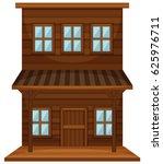wooden building in western... | Shutterstock .eps vector #625976711
