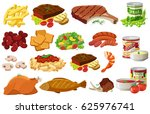 different kinds of healthy food ... | Shutterstock .eps vector #625976741