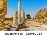 Small photo of The colonnaded Palaestra of the gymnasium at the ancient Roman city of Salamis near Famagusta, Northern Cyprus