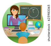 distance education  learning.... | Shutterstock .eps vector #625983365