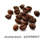roasted coffee beans on white... | Shutterstock . vector #625998947