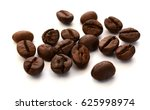 coffee beans isolated on the... | Shutterstock . vector #625998974