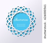 round lacy cutout turquoise... | Shutterstock .eps vector #626000561
