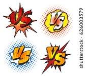 vector versus letters or vs... | Shutterstock .eps vector #626003579