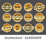 warranty and guarantee labels.... | Shutterstock .eps vector #626003609