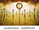 time after death concept. clock ... | Shutterstock . vector #626004101