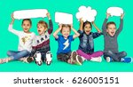children smiling happiness... | Shutterstock . vector #626005151