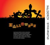 halloween background template... | Shutterstock .eps vector #62600794