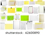 three slices of paper isolated... | Shutterstock . vector #62600890
