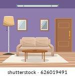 room home interior sofa mirror