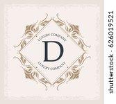 luxury company d monogram... | Shutterstock .eps vector #626019521