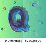 alphabet q icon vector