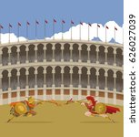 arena coliseum gladiators clash