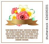 vintage delicate invitation... | Shutterstock . vector #626030201