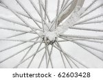 Spokes On Bicycle Wheel Covere...