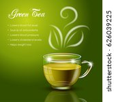 tea properties and health... | Shutterstock .eps vector #626039225