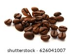 roasted coffee beans isolated... | Shutterstock . vector #626041007