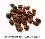 roasted coffee beans isolated...   Shutterstock . vector #626041034