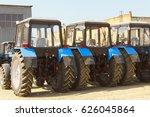 combines and tractors ... | Shutterstock . vector #626045864