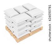 Stack Of Blank Paper Sack Bag...