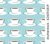 seamless pattern with cups of... | Shutterstock .eps vector #626051819