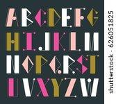 english alphabet vector ...   Shutterstock .eps vector #626051825