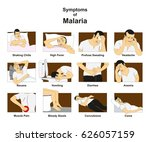 symptoms of malaria infographic ... | Shutterstock .eps vector #626057159