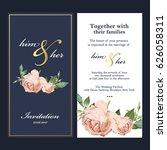 wedding invitation card | Shutterstock .eps vector #626058311