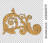 filigree ornament in baroque...   Shutterstock .eps vector #626060075