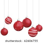 red christmas ornaments vector | Shutterstock .eps vector #62606755