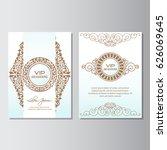 invitation background flyer... | Shutterstock .eps vector #626069645