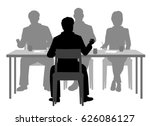 editable vector silhouettes of... | Shutterstock .eps vector #626086127
