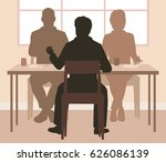 editable vector silhouettes of... | Shutterstock .eps vector #626086139