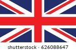vector flag of united kingdom   Shutterstock .eps vector #626088647
