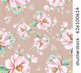 seamless pattern of graceful... | Shutterstock . vector #626100614