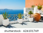 beautiful terrace with sea view.... | Shutterstock . vector #626101769