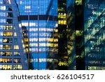 modern office building at night   Shutterstock . vector #626104517