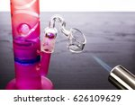 heating a dab rig for marijuana ... | Shutterstock . vector #626109629