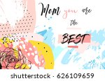 hand drawn vector abstract... | Shutterstock .eps vector #626109659