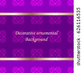 luxury colored ornamental... | Shutterstock .eps vector #626116535