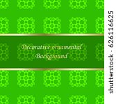 luxury colored ornamental... | Shutterstock .eps vector #626116625