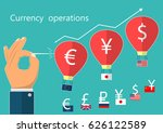 currency operations. balloons... | Shutterstock .eps vector #626122589